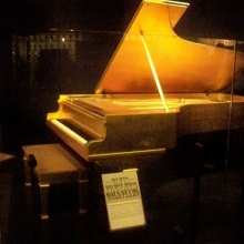 Elvis Presley's Piano Gold - Country Music Hall of Fame in Nashville TN