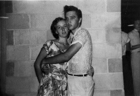 Elvis with Ardsy Bell Clawson 28th July 1955 Baseball stadium, Jacksonville, Florida