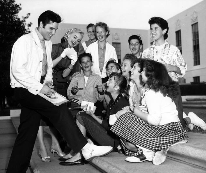 1957, The official Elvis Presley Fan Club was launched in the UK