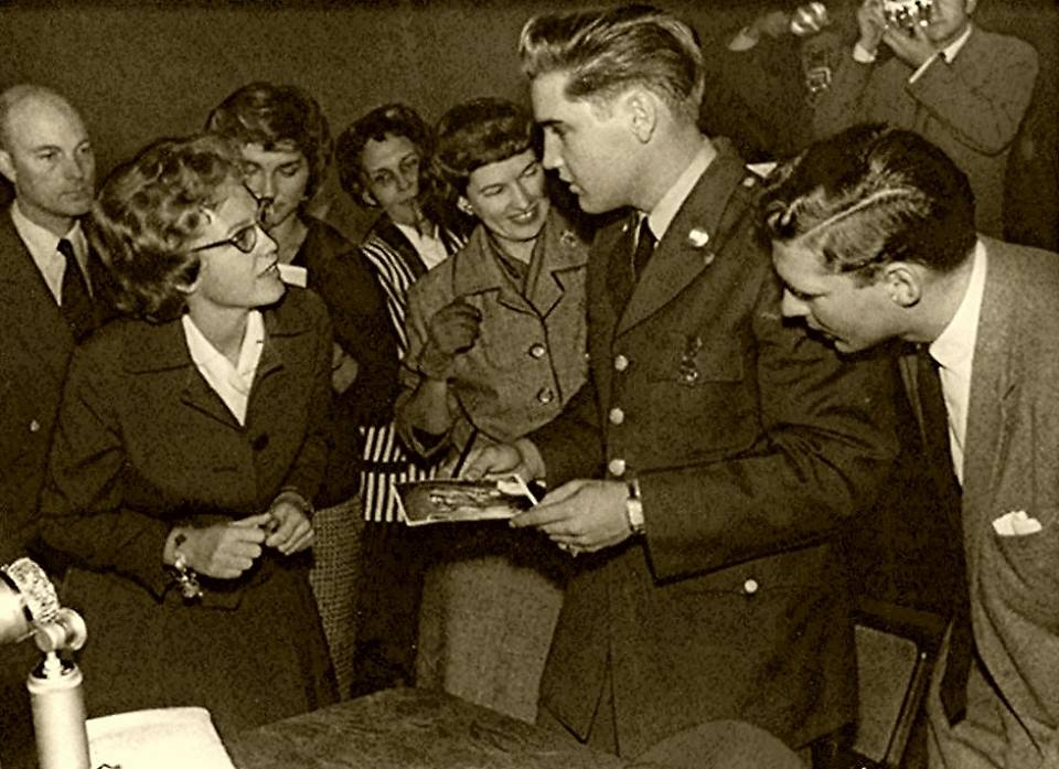 2nd October 1958 RAY BARRACKS, FRIEDBERG Germany (During Press Conference)