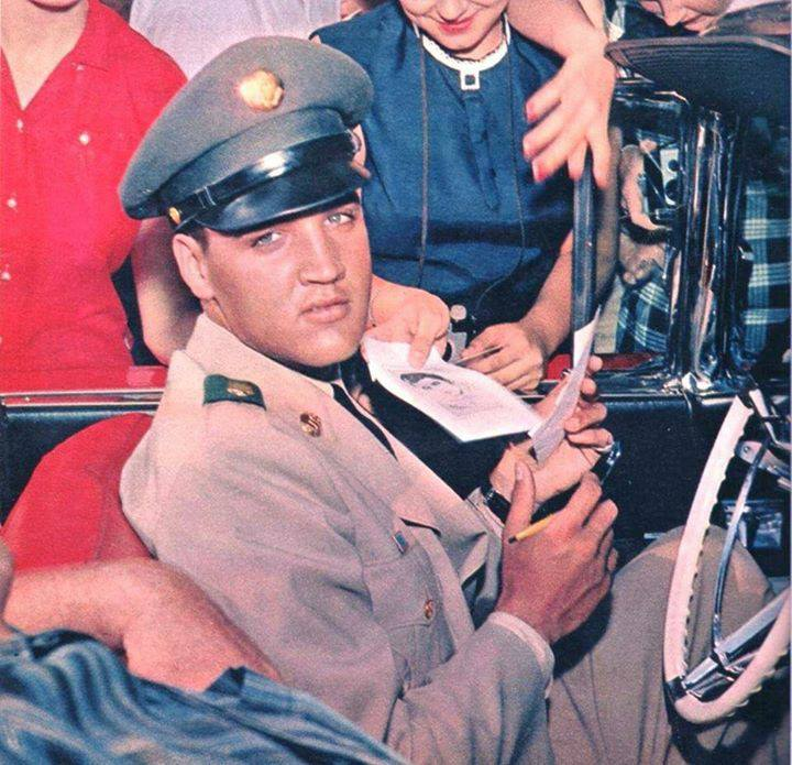 Elvis In Military Uniform 2