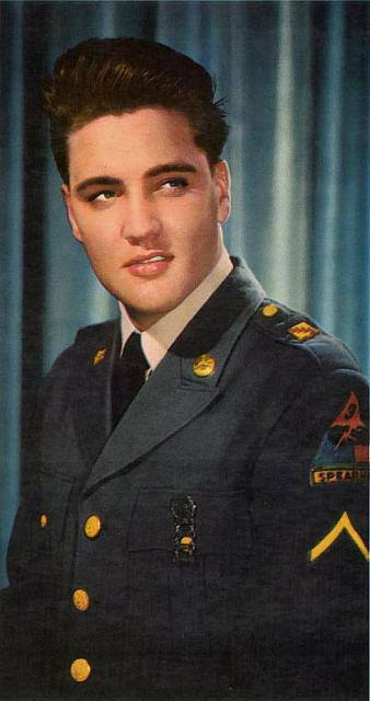 Elvis In Military Uniform 3