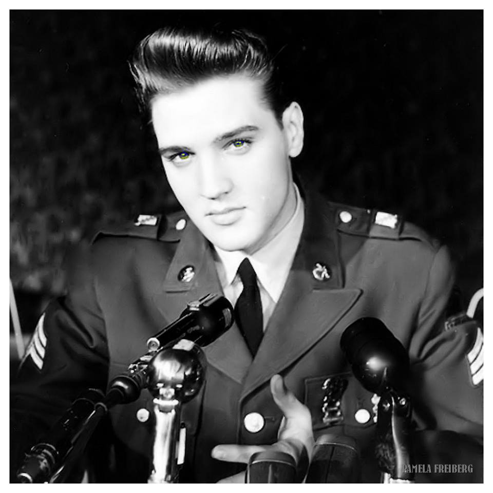 Elvis in Military Uniform