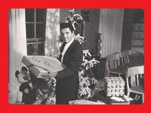 Elvis at Graceland December 25, 1957