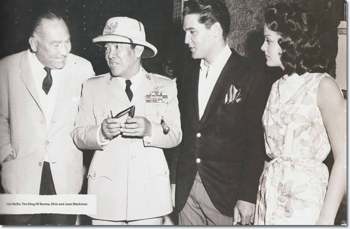 Hawaii, April 21 1961 SOEKARNO met ELVIS PRESLEY with Hal Wallis and Joan Blackman