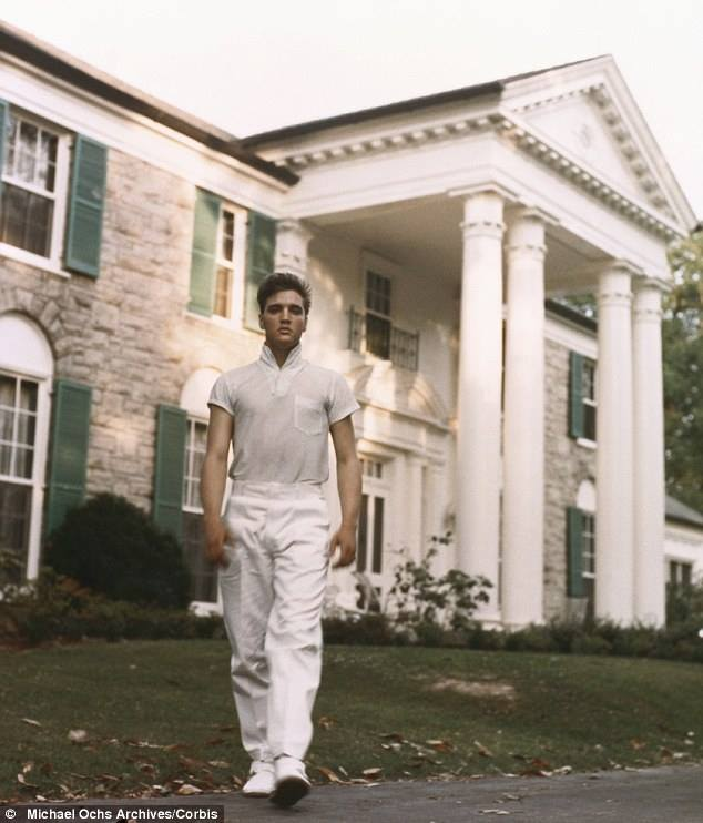 In front of Graceland, 1958...