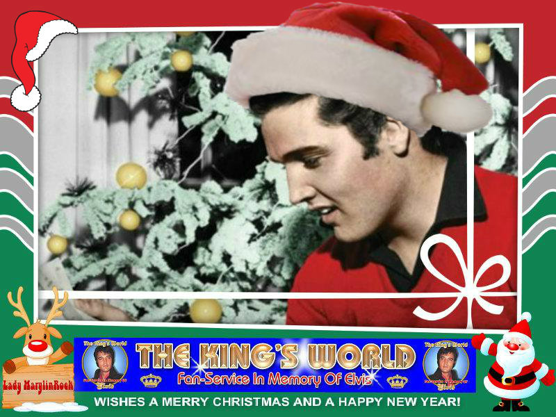 The King's World Elvis Christmas Banner English Version