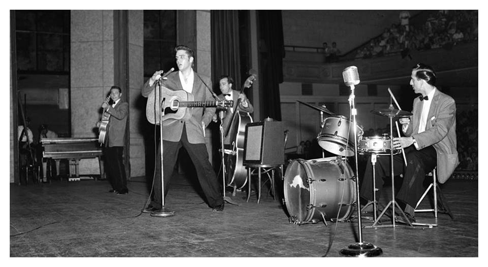 1956, Elvis Presley performed in the gym at Randolph High School, Mississippi