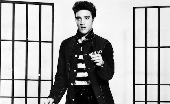 1958, ELVIS PRESLEY reached No.1 on the UK singles chart with 'Jailhouse Rock'.