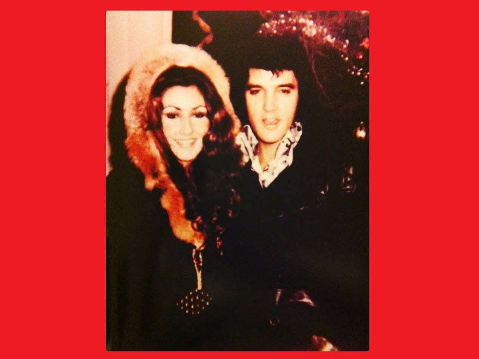 Elvis and Linda celebrating Christmas at Graceland - December 25, 1972