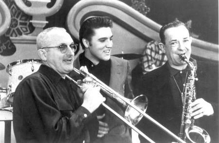 1956, ELVIS PRESLEY appeared on TV's 'The Dorsey Brothers' Stage Show'