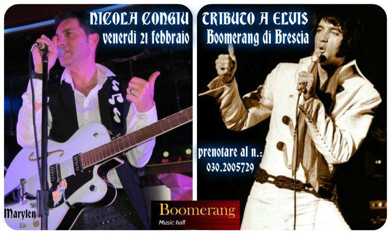 Nicola Congiu - Tributo a Elvis 21.02.14 Boomerang Music Hall di Brescia
