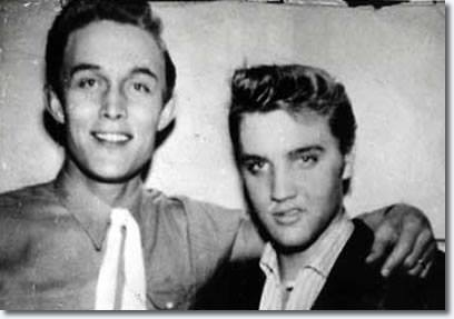 1955 - ELVIS PRESLEY was interviewed by Jimmy Dean on Jimmy's television show Town and Country Time