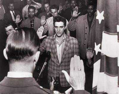 1958, ELVIS PRESLEY and twelve other recruits were taken by bus to Kennedy Veterans Memorial Hospital
