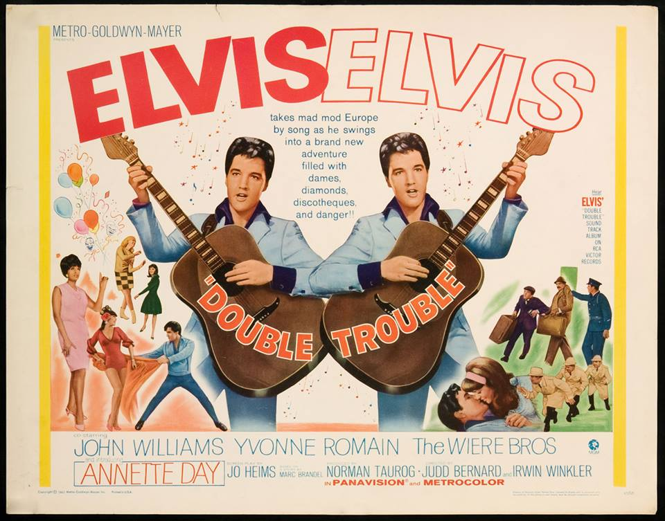 April 5, 1967, MGM released Elvis Presley's 24th movie, Double Trouble, nationwide