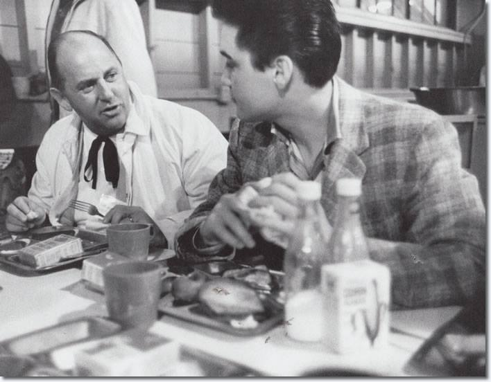 Elvis having breakfast at Fort Chaffee - Arkansas, March 25th 1958 2