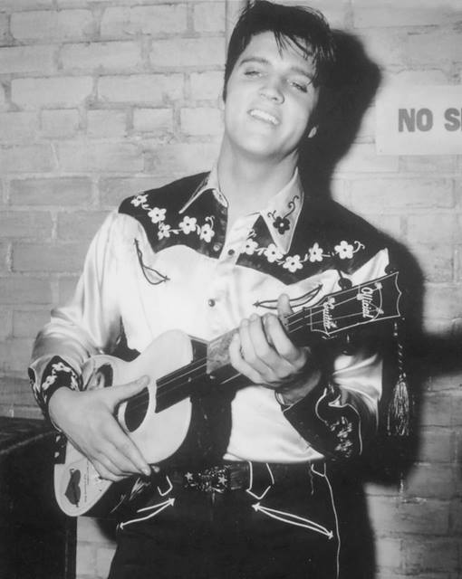 Elvis on the set of  Loving You (1957)